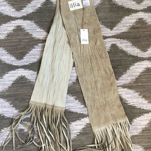 Illia fringed suede / leather scarf/belt